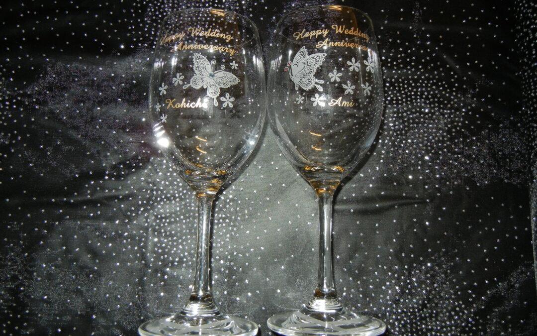 ☆ ペアワイングラス フルオーダーのご紹介です ☆