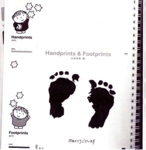 足形babyフォトスタンド003