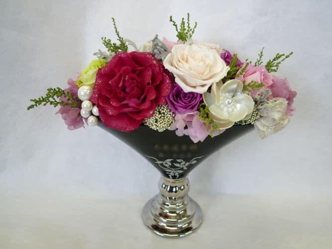 ☆プリザーブドフラワー「フォンテイン」 花器に名入れいたします☆