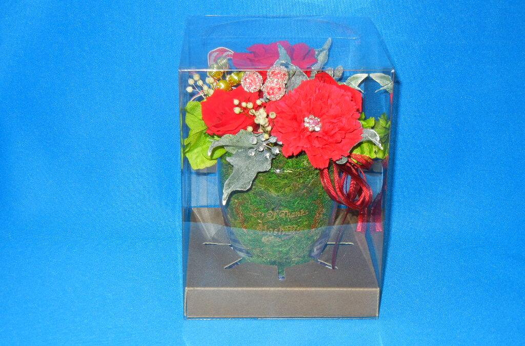 ☆母の日の特別アレンジ 名入れ花器付【プリザーブドフラワー カラーベース】☆