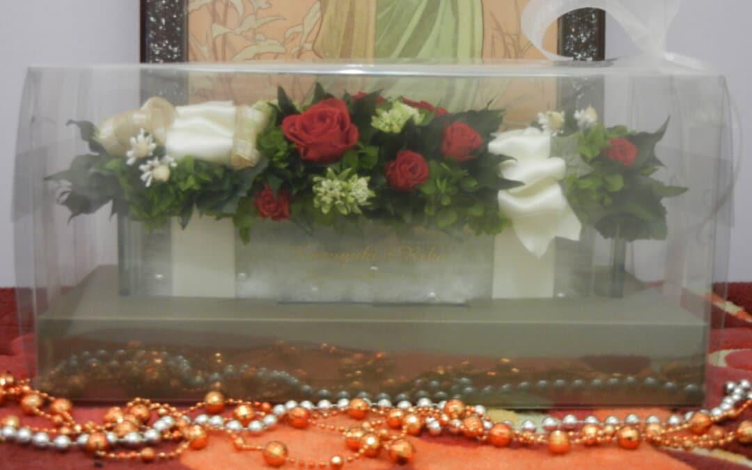 ☆名入れ花器付【プリザーブドフラワー エンジェル】特別な名入れの贈り物☆